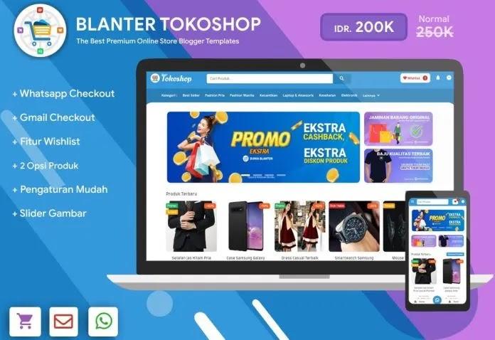 [Free Download] Blanter Tokoshop Shopping Blogger Template - Premium