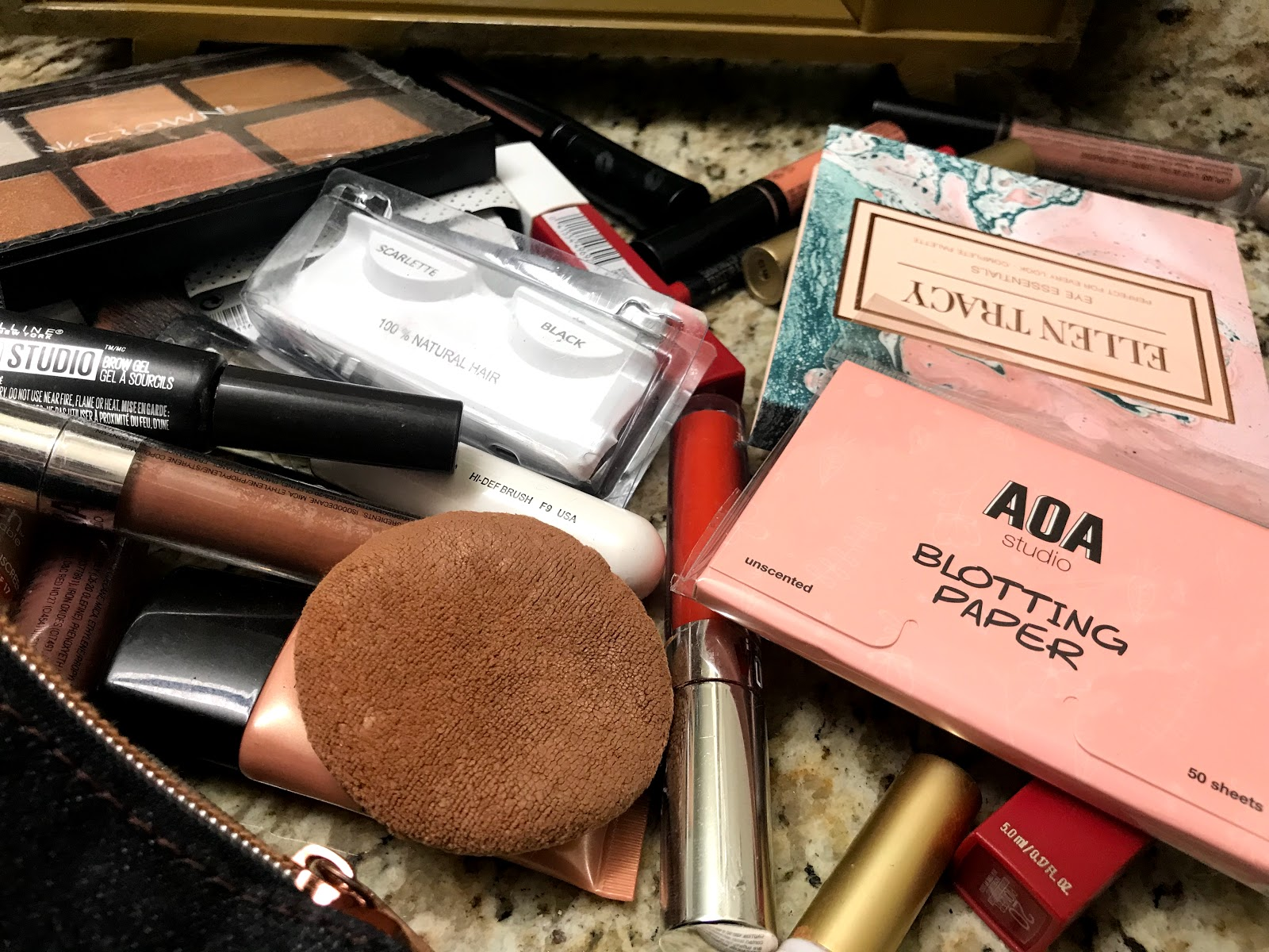 Image: Makeup on desk