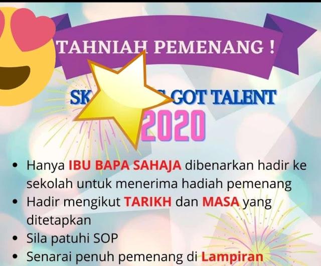 DHIA BATRISYA MENANG KIDS GOT TALENT 2020 DI SEKOLAHNYA