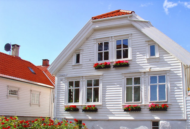 One of the charming 19th-century homes in Old Stavanger.
