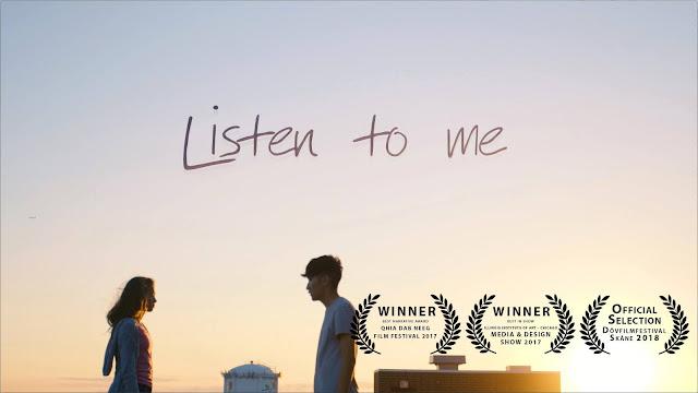 """Cortometraje de 2017 dirigido por Touacha Her """"Listen to me"""" en el que un estudiante intenta salvar a una niña sorda que quiere suicidarse por acoso escolar"""