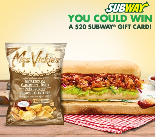Miss Vickies & Subway Lunch $250 Gift Card Contest