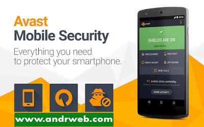 تطبيق Avast Mobile Security & Antivirus مفعّل للأندرويد