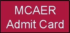 MCAER Admit Card