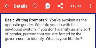 Fiction prompts