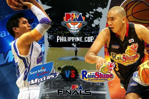 PBA FINALS 2014 - Philippine Cup: Rain or Shine vs. San Mig Coffee