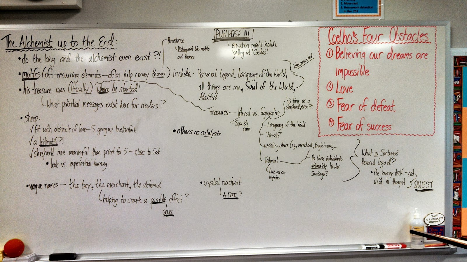 mr martin s english class discussion notes for the  class discussion notes for the alchemist english 10 honors