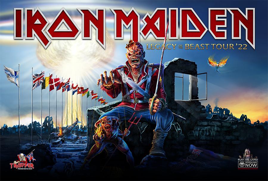 Shows do Iron Maiden na Europa são oficialmente adiados para 2022