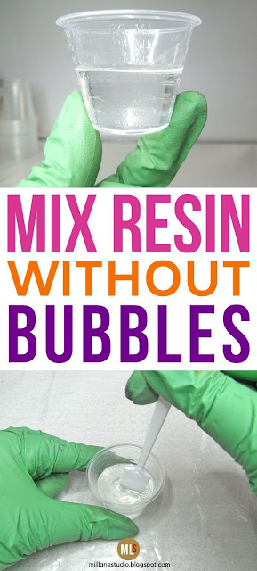 Mix resin without bubbles inspiration sheet