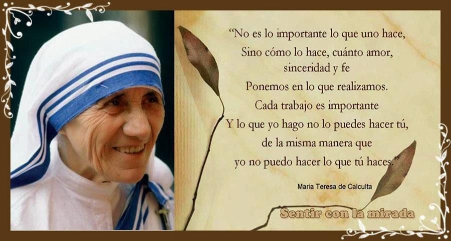 Frases De Escritores La Vida Es Madre Teresa De Calcuta