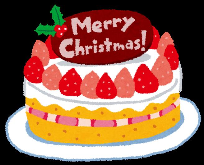 クリスマスケーキのイラスト苺のケーキ かわいいフリー素材集