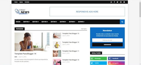 Today News Template Blogger