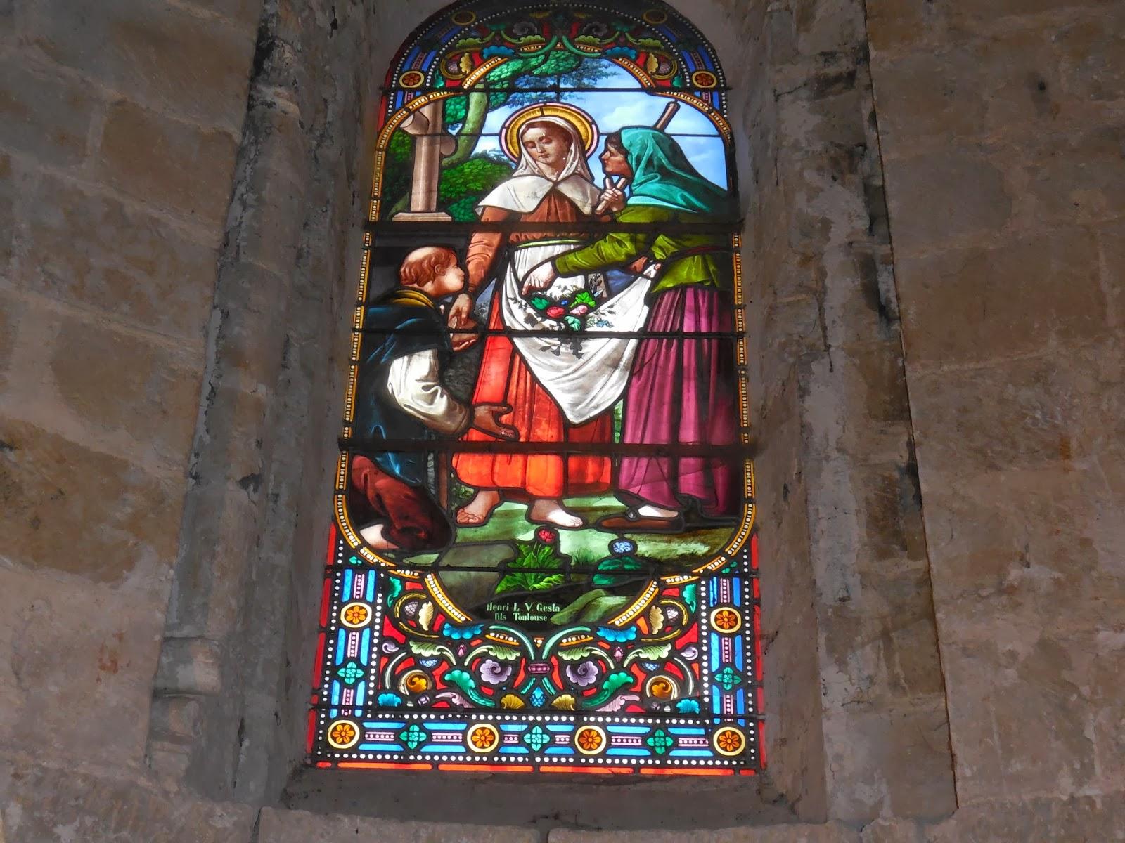 fd67cfe83d6 ... Pibrac. Le vitrail raconte un des miracles de sainte Germaine de son  vivant. Accusée par sa marâtre de voler du pain pour le donner aux pauvres