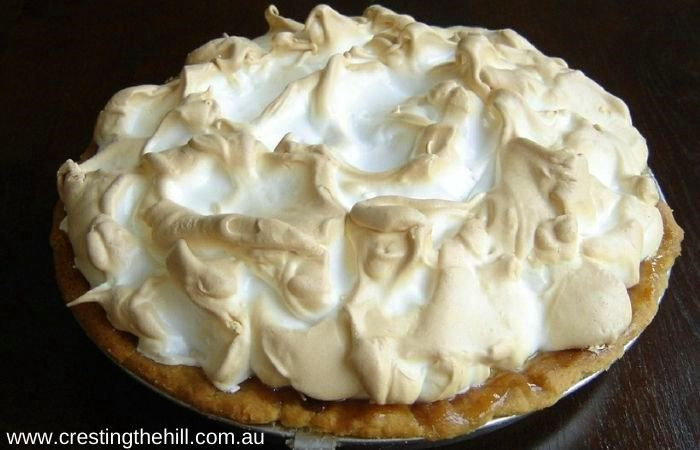 A super easy lemon meringue pie - light, creamy, sweet and delicious.