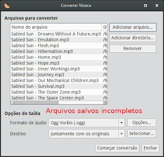 Saiba as causas de não conseguir converter um arquivo de mp3