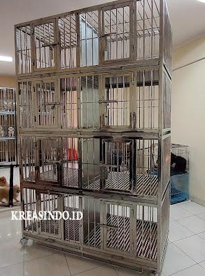 Kandang Anjing Stainless Pesanan Bpk Chimy di Sumarecon Bekasi ( Repeat Order Ketiga )