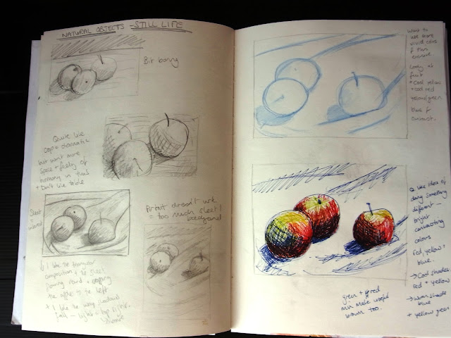 Magh Ene College - Art Gallery: 5th Year - Sketch book