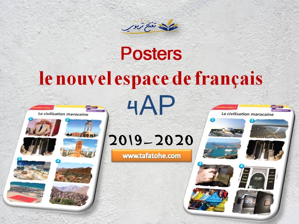 Posters le nouvel espace de français 4AP 2019-2020