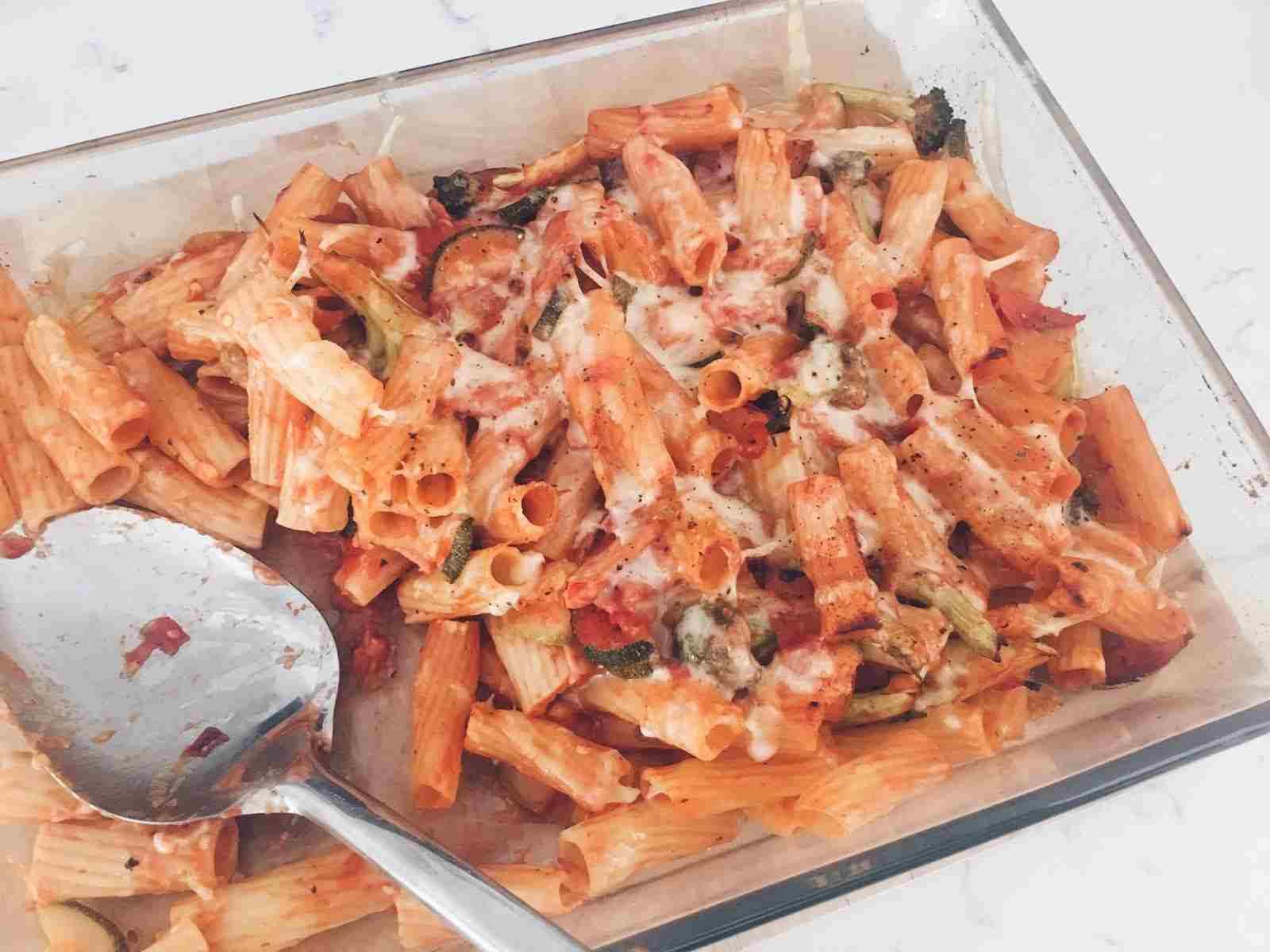 Spicy pasta bake