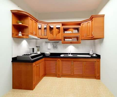 kitchen set mewah kayu jati