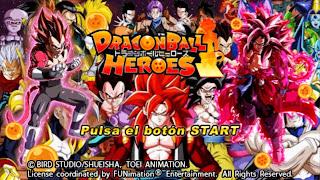 DRAGON BALL Z TENKAICHI TAG TEAM MOD DRAGON BALL HEROES COM MENU PERMANENTE [PARA ANDROID E PC PPSSPP]