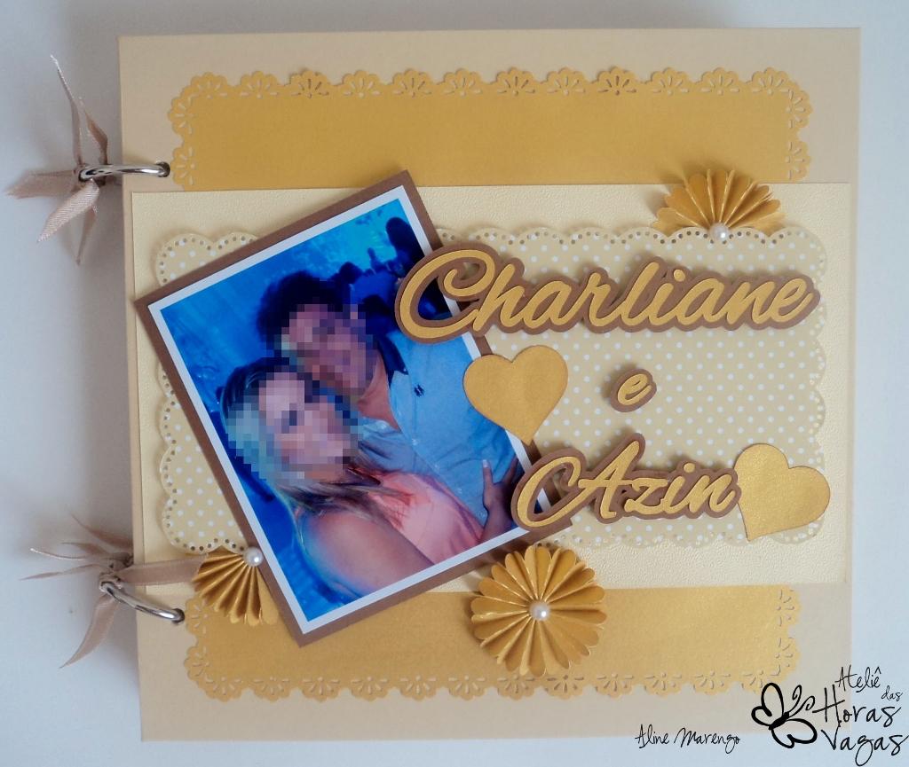 livro de mensagens personalizado bege marfim dourado noivado casamento floral