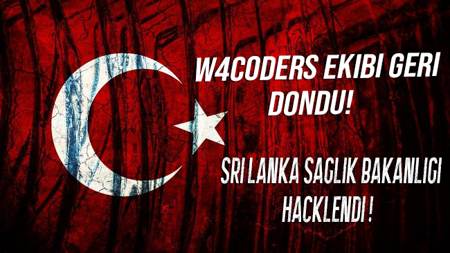 SRİ LANKA SAĞLIK BAKANLIGI HACKLENDİ ! W4CODERS GERİ DÖNDÜ !