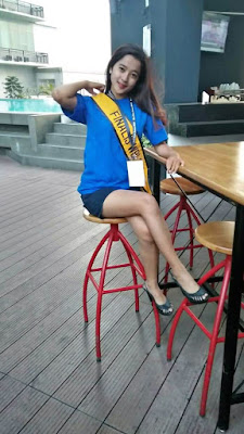 windi fibriani saat menjalani karantina pada ajang wajah bintang indonesia 2019
