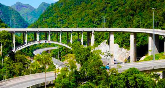 Jembatan kelok sembilan nan megah di payakumbuh