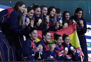 oro seleccion española femenina waterpolo europeo 2020