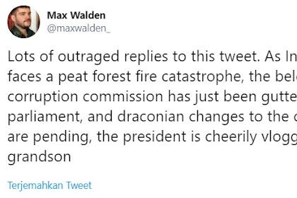 Jurnalis Asing: Hutan Terbakar, Jokowi Ceria Ngevlog Bareng Cucu