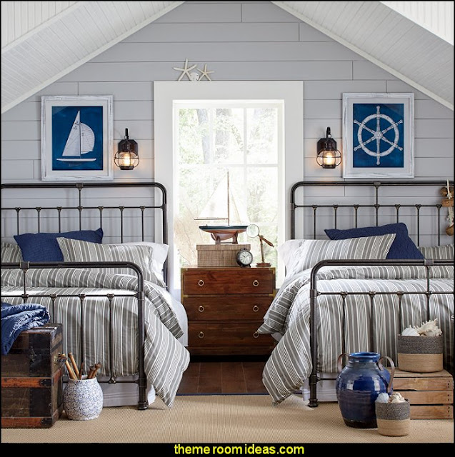 Chase Bed  nautical bedroom ideas - decorating nautical style bedrooms