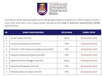 Jawatan Kosong Universiti Teknologi MARA (UiTM) Cawangan Pahang | Tarikh Tutup: 18 November 2019