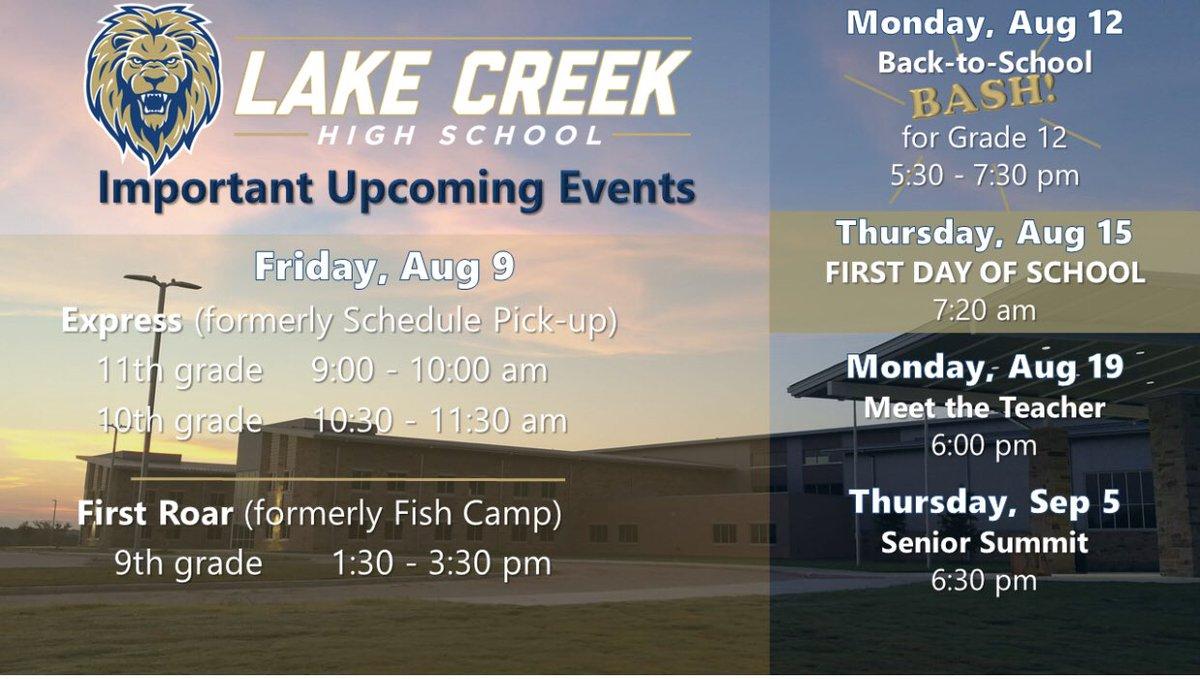 Lake Creek High School PTO: What's Happening at Lake Creek