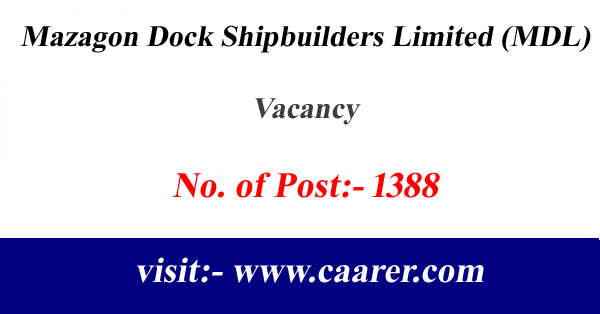 Mazagon Dock Shipbuilders Limited (MDL), Vacancy