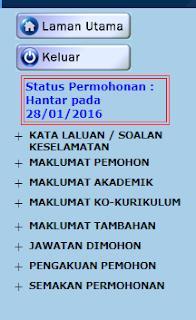 sub menu pada bahagian login spa8i