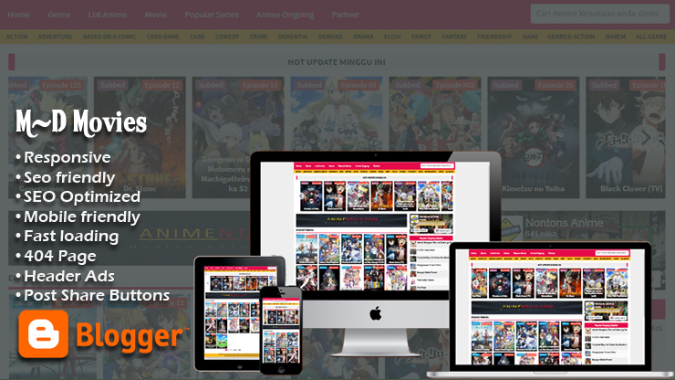 M-D Movies v3.0 Responsive Blogger Template