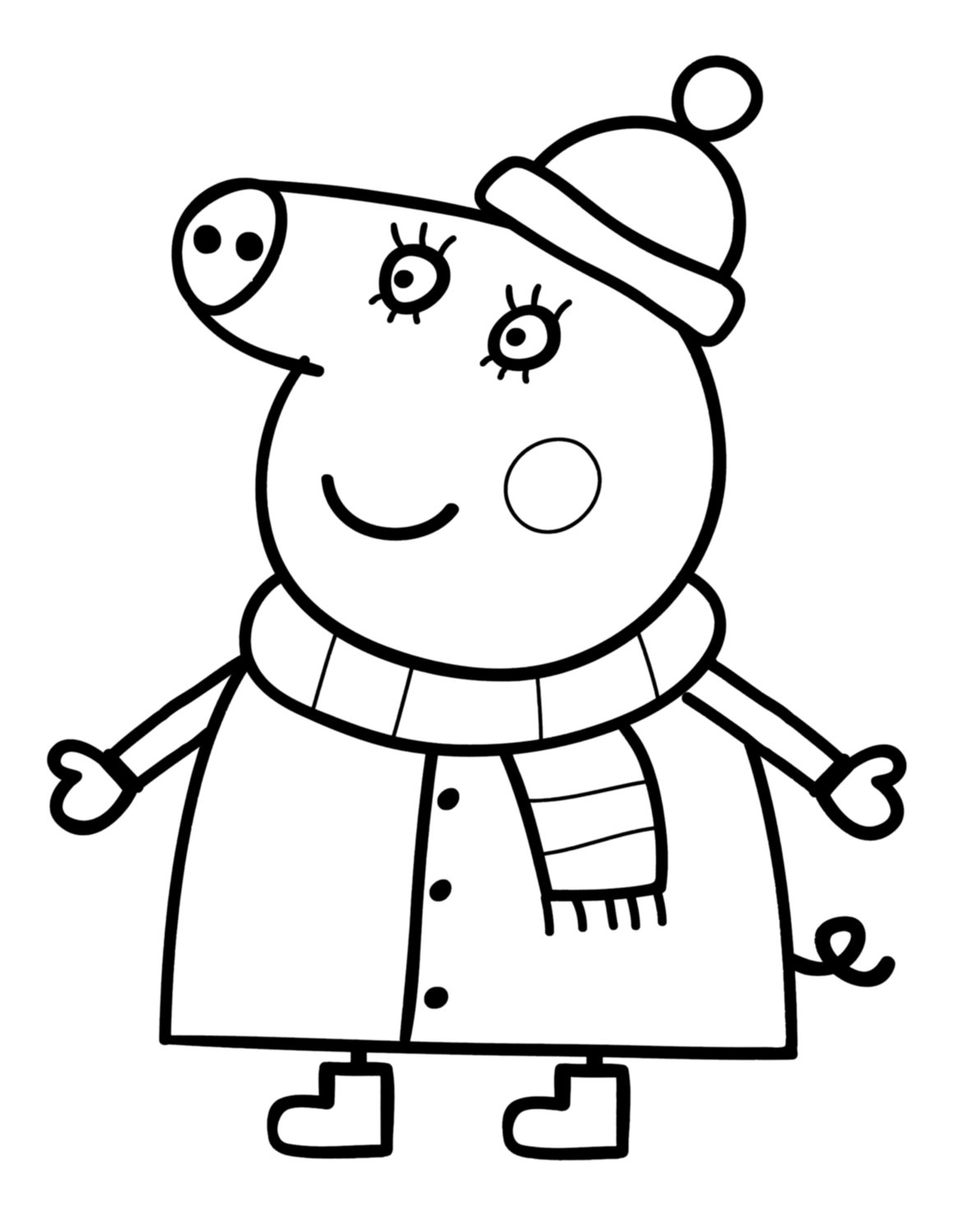 Fun Amp Learn Free Worksheets For Kid Peppa Pig Coloring