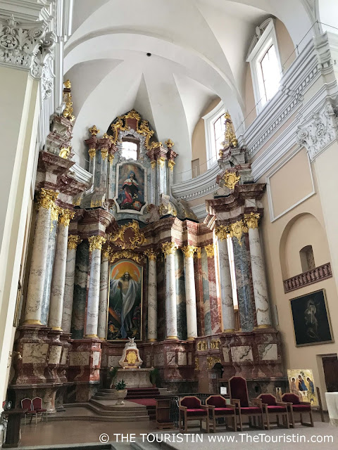 Altar of the Saint Casimir Jesuit church in Vilnius in Lithuania.