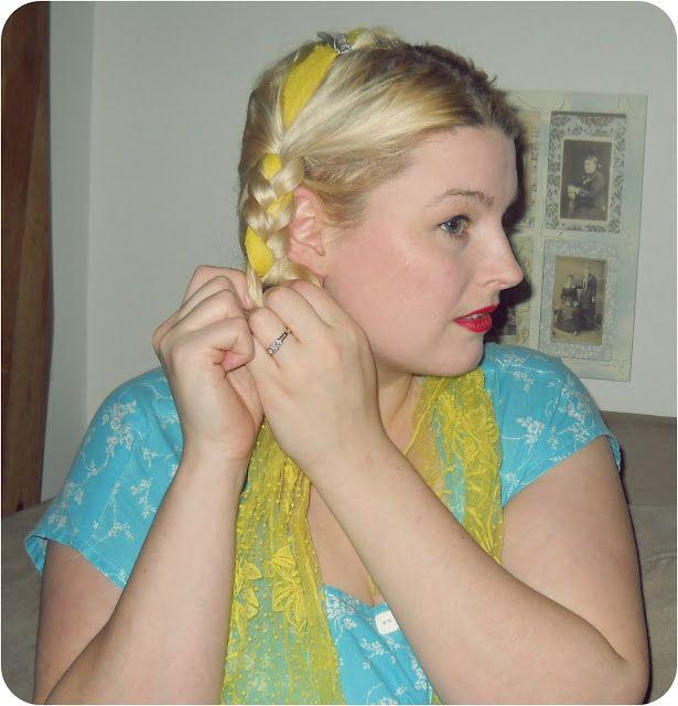 1940s vintage easy summer hair tutorial