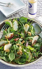 Arugula, Pear & Walnut Salad w/ Honey Vinaigrette