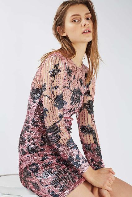 pink sequin dress, pink pattern sequin dress,