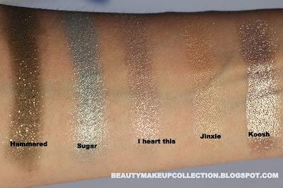 colourpop cosmetics swatch haul eyeshadows