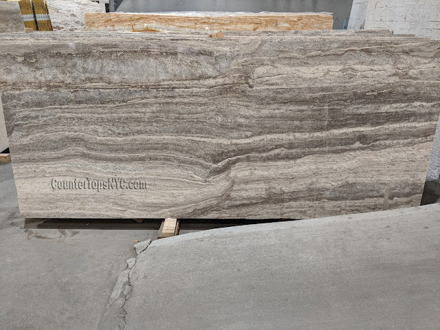 2 inch Polished Travertine Slab NYC