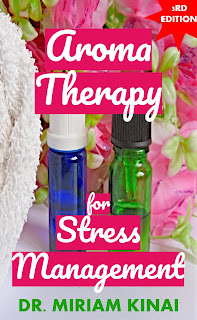 Aromatherapy for stress management book teaches you how to manage stress with 12 essential oils.