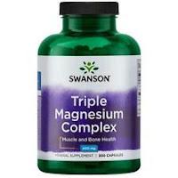 Swanson Triple Magnesium Complex Capsules, 400 mg, 300 Ct