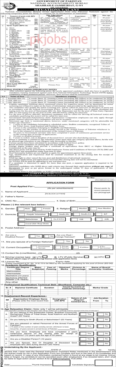 Latest National Accountability Bureau Management Posts 2021