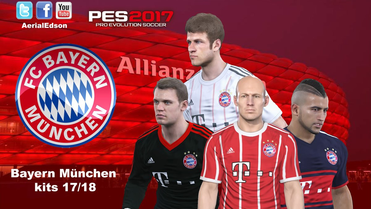 PES 2017 Bayern München Kits 2017 2018 by AerialEdson ff9fa2c07