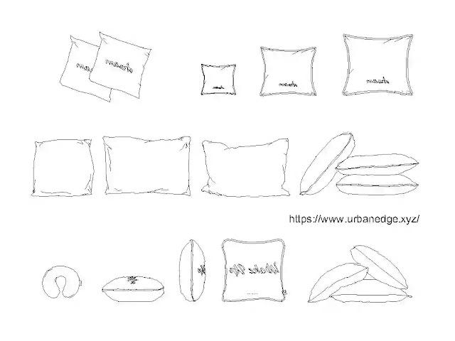 Pillows cad blocks free download - 10+ pillow cad models