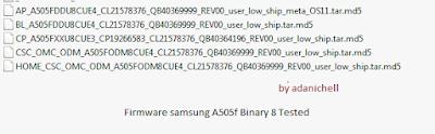 Firmware samsung A505f Binary 8 Tested